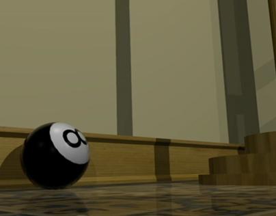 8 Ball 3D Render