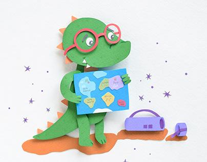 Alex Alligator | Paper art