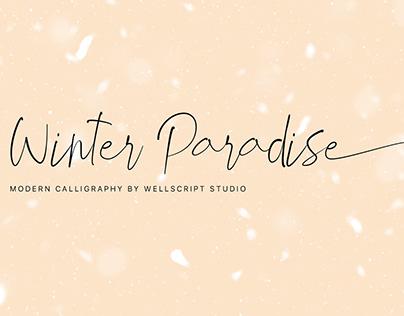 Winter Paradise - FREE Modern Script