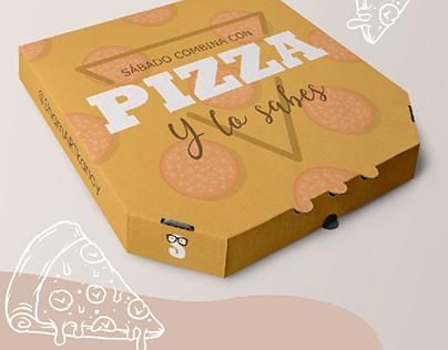 Packaging para pizza.