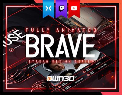 Animated Dark Fire Twitch Stream Design