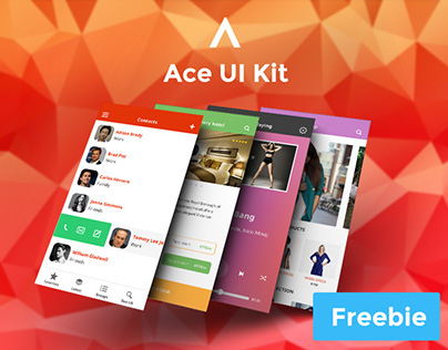 Ace iOS8 Mobile UI Kit Freebie