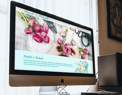 Petali & Pedali - Concept design for a flower shop site
