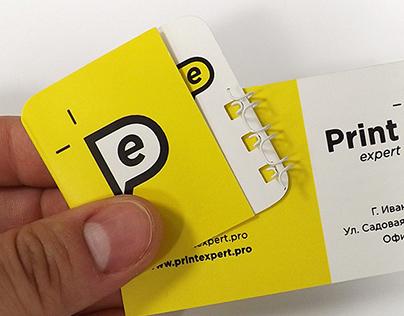 Business card & card-bracket. Eye expert logotype.