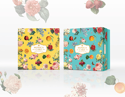 Monica Cake Packaging Design & Branding