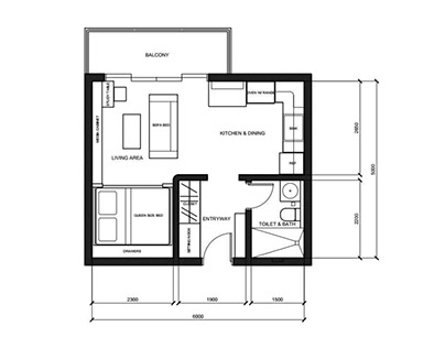 Small residential unit