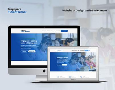 Singapore Tuition Website UI Design and Development
