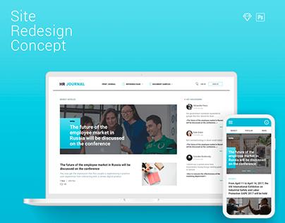 Print Journal Website Concept