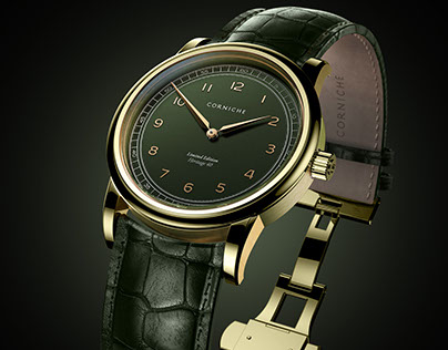 3D Renders of Corniche Heritage 40mm Limited Ed. Green