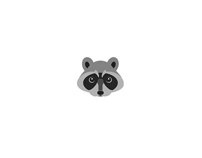CSS Illustration - Raccoon