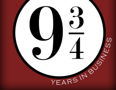 9 3/4 Business Promo Logo