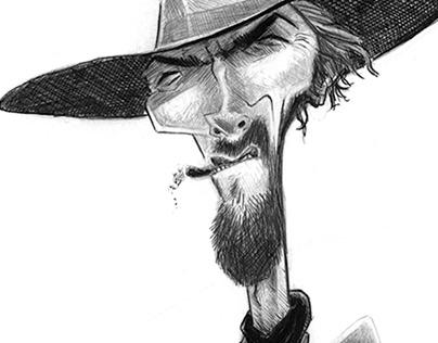 Clint Eastwood Caricature