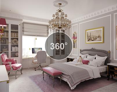 Моделирование и визуализация детской комнаты 360