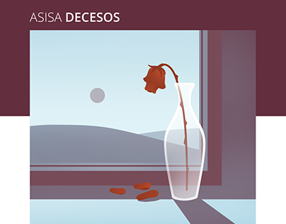 ASISA Decesos - Brochure illustrations
