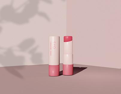 Basic Lip Balm/ Lip Stick Container Mockup Templates