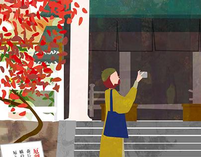 Cover illustration for Kamakura Guide map