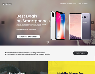 Landing Page for Wireless Provider
