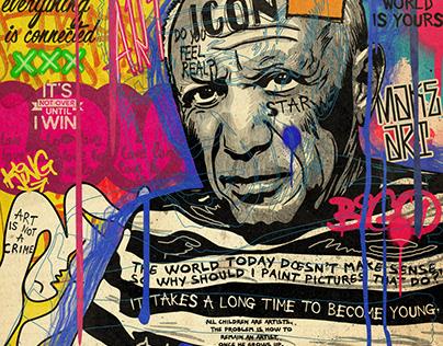 Picasso pop art portrait
