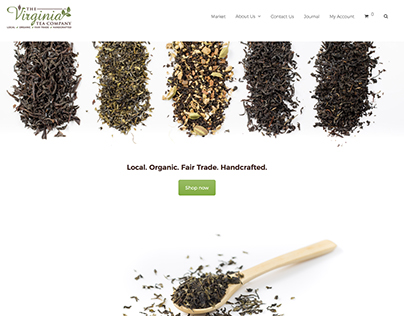 Virginia Tea Company - Branding and Website design