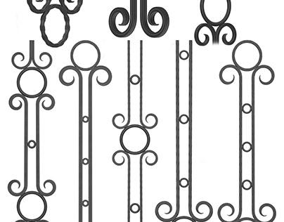 Wrought iron fence No.03