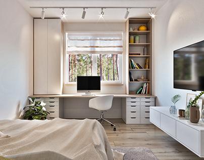 Scandinavian interior in 40 m2