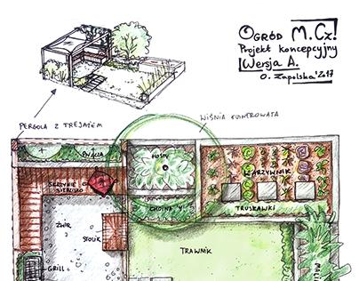 """Ogród """"Jadalny dla M.Cz."""" Wersja A, B, C"""