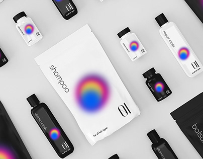 Packaging design of dry shampoos and cosmetics