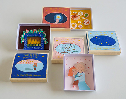 The Little Match Girl - Illustrated Handmade Matchboxes