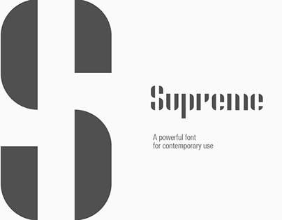 Supreme | A Clean Contemporary Font