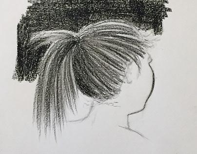 Pencil drawing Head study
