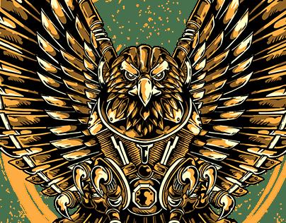2019 - EAGLE MOTOR ( T-SHIRT DESIGN )