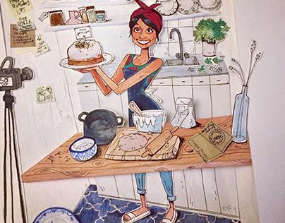 Dina in her Kitchen