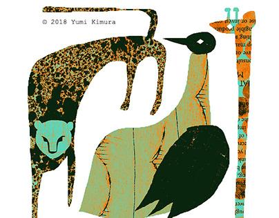 Original illustrations for postcard