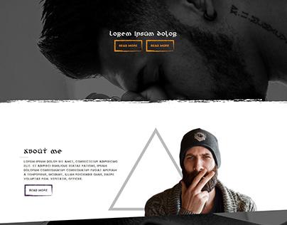 Website tattoo template