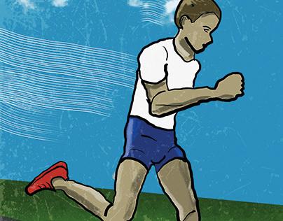 """Run for Life"" FRESCO WORK"