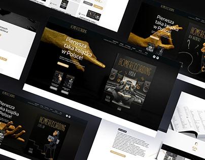 Homerecording - photoshoot & web design