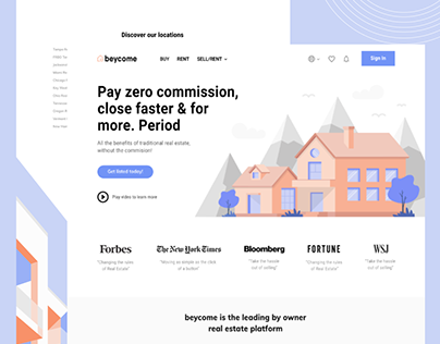 web redesign for real estate company