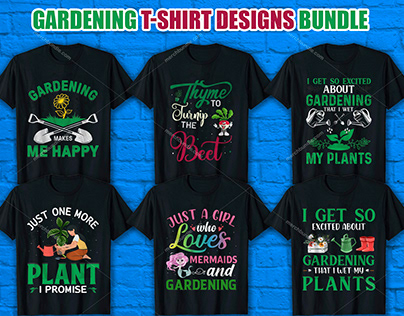 Gardening T Shirt Design Bundle