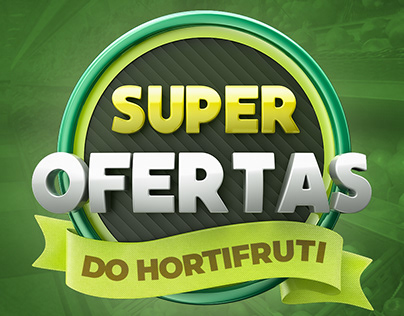 Selo 3D Super Ofertas do Hortifruti