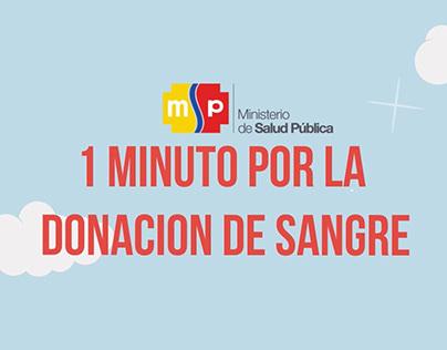 1 Minuto por la donacion de sangre (Ecuador)