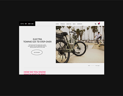 CN E-Bike Shop – website redesign