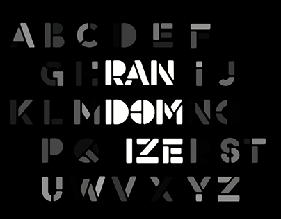 Randomize - Animated Typeface