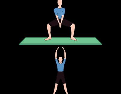 Ebook sobre Pilates | Ilustração