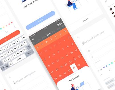 Schedule UI Design App