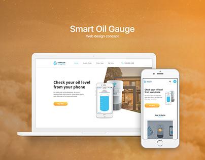 Web design concept for Smart Oil Gauge