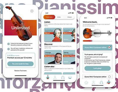 Pianissimissimo - music app