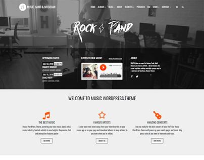 Music Band & Musician WP Theme