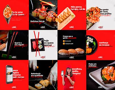 Social Media - Uau Sushi