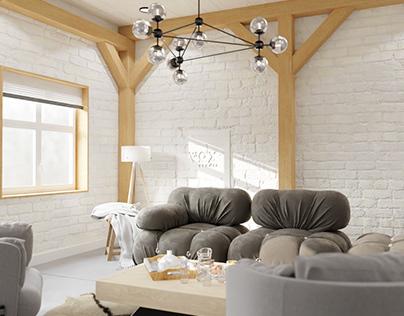 Living Room Interior design & visualization