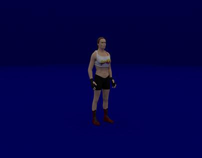 Ronda Rousey jump Animation
